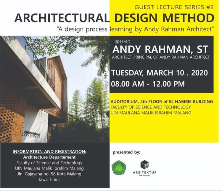Guest Lecturer Series #2 Architectural Design Method