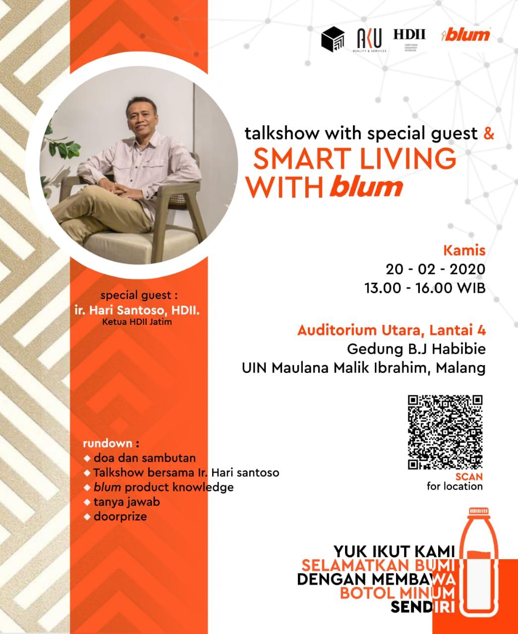 "Kuliah Tamu ""Smart Living With blum"""
