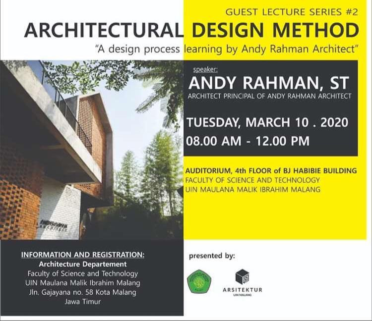 Guest Lecturer Series #2 Architectural Design Method