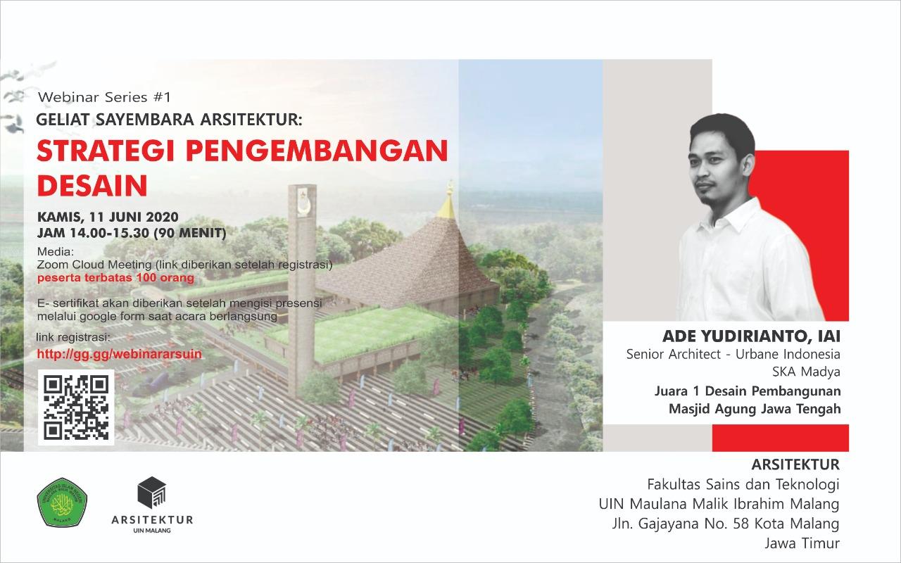 Seminar Online Series # 1 Strategi Pengembangan Desain