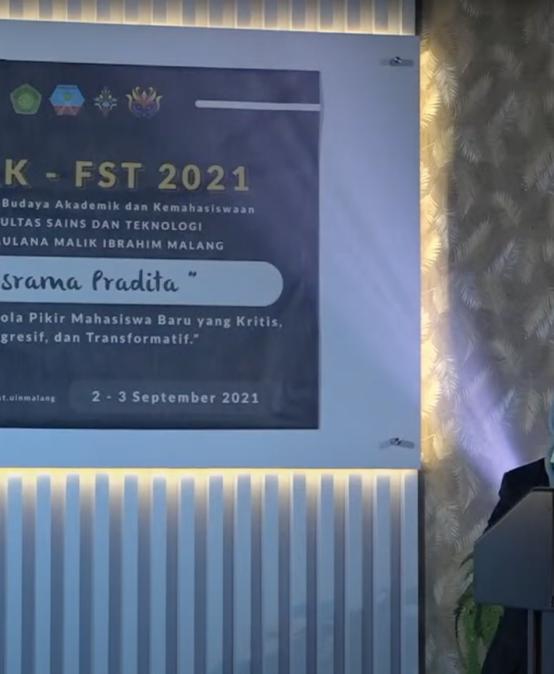 PBAK Fakultas Sains dan Teknologi 2021 2-3 September 2021
